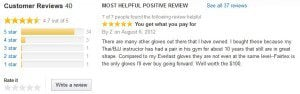 Fairtex Customer Reviews