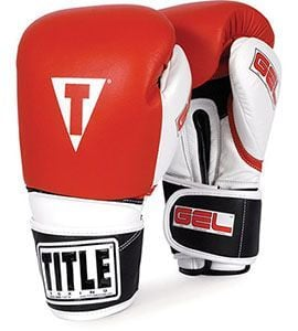 title gel intense bag sparring gloves red