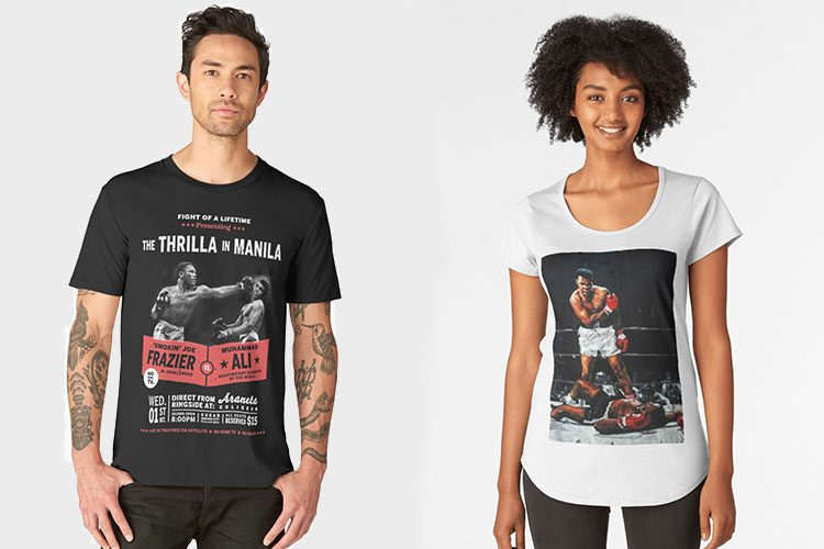 10 Muhammad Ali T-Shirts
